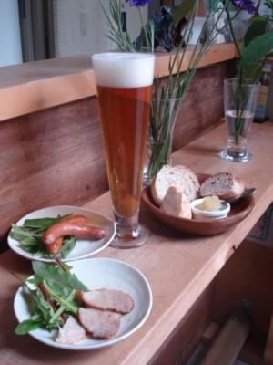 お昼のビール